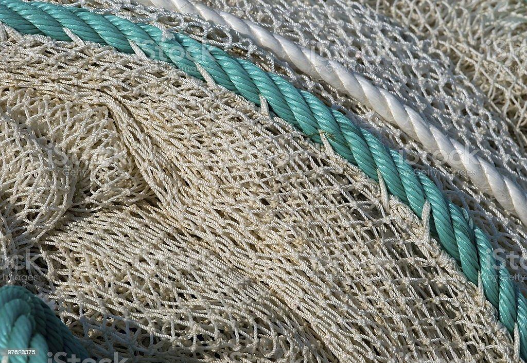 Filet de pêche comme arrière-plan blanc photo libre de droits