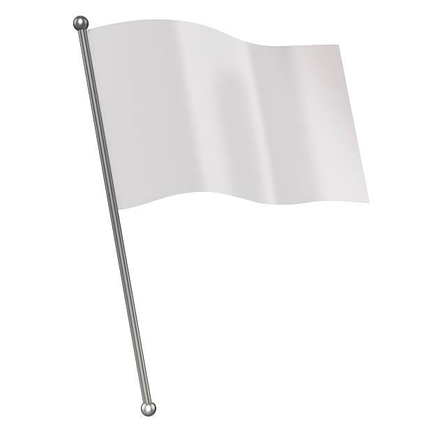 white flag 3d illustration stock photo