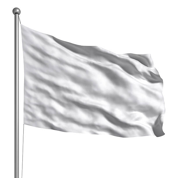 Drapeau blanc isolé - Photo