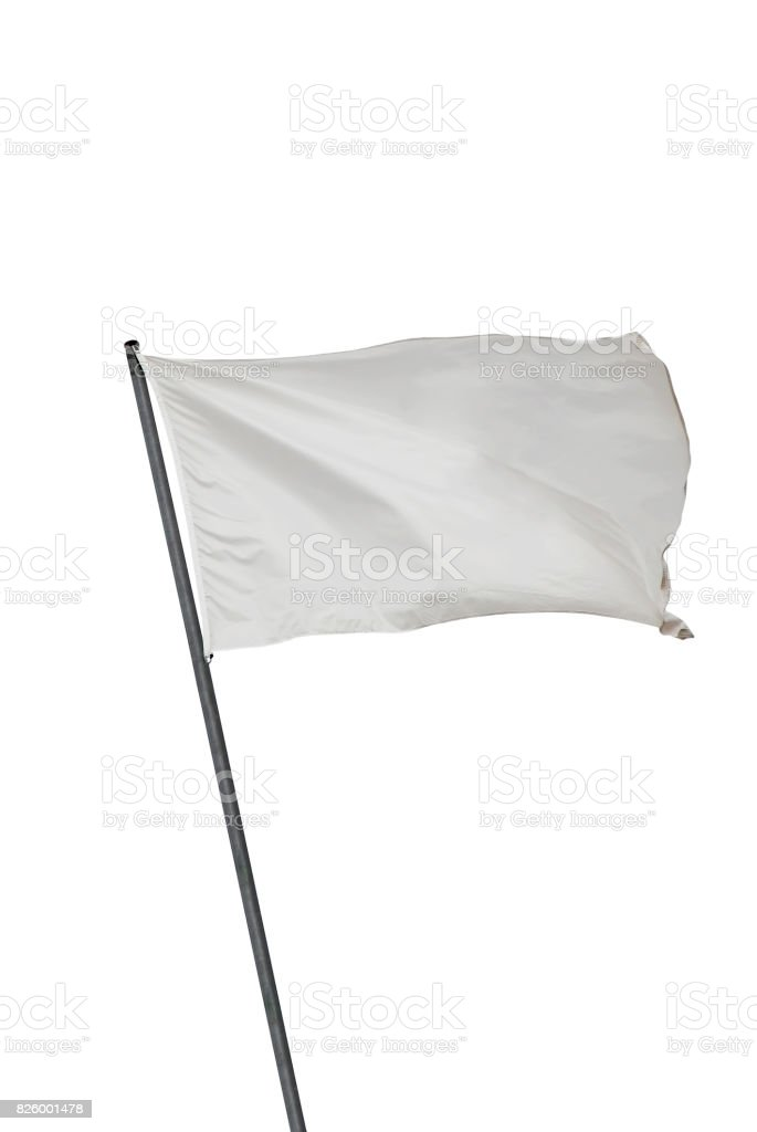 Bandeira branca isolada - foto de acervo