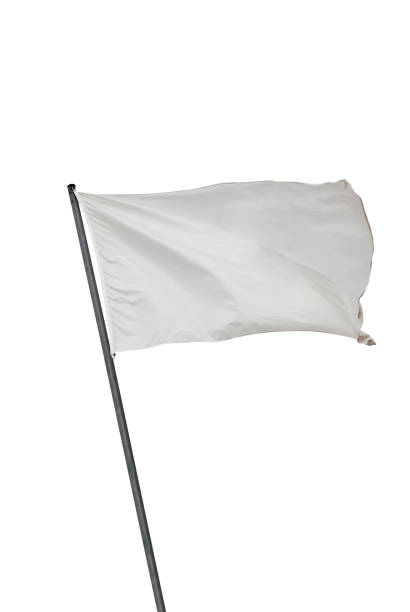 white flag isolated - flag stock photos and pictures