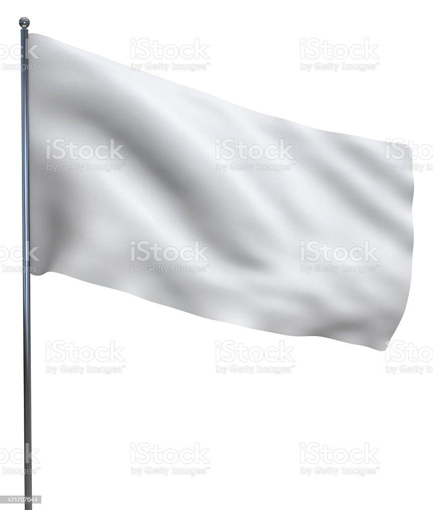 White flag on a white background stock photo