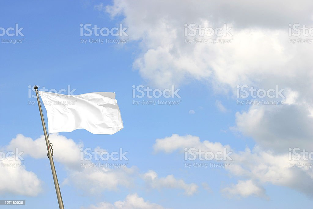 White Flag stock photo