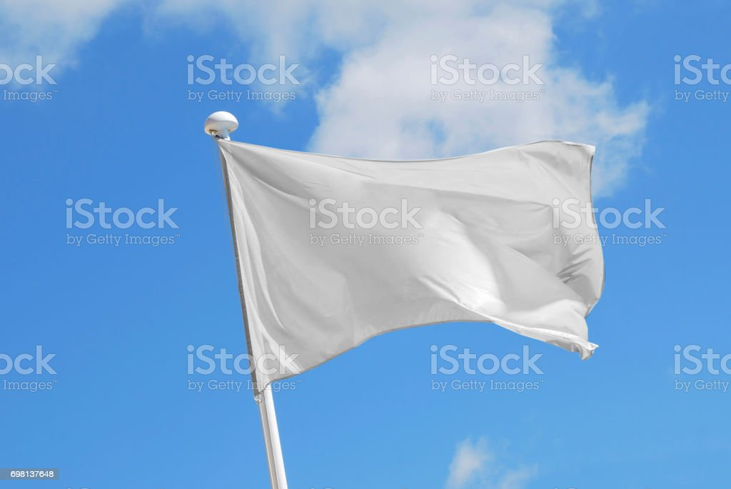 Bandera blanca - foto de stock