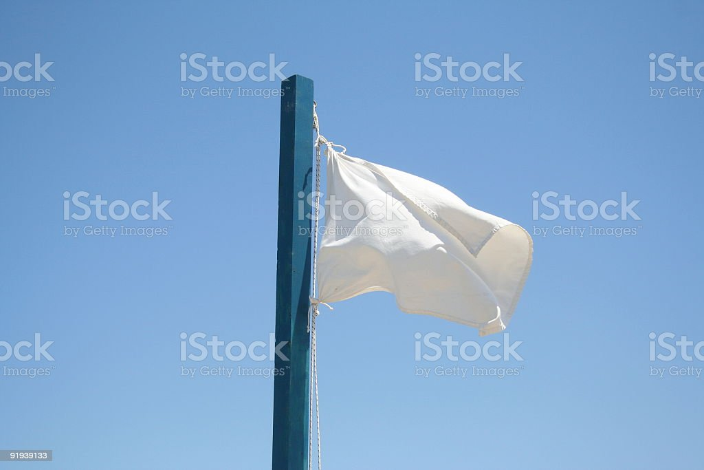 White flag #2 royalty-free stock photo