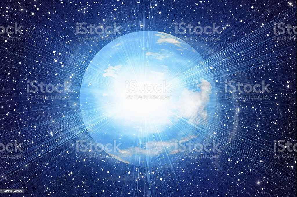 white flash of space earth planet in cosmos sky backgrounds stock photo