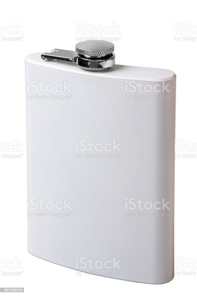 White flask for drinks - foto stock