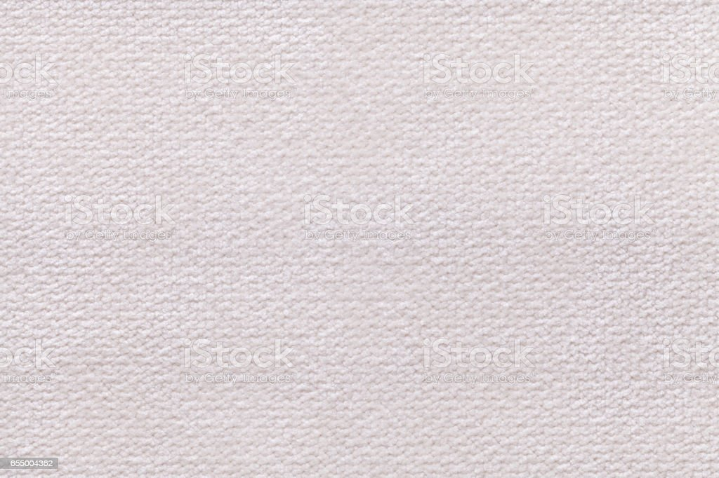 White fluffy background of soft, fleecy cloth. stock photo