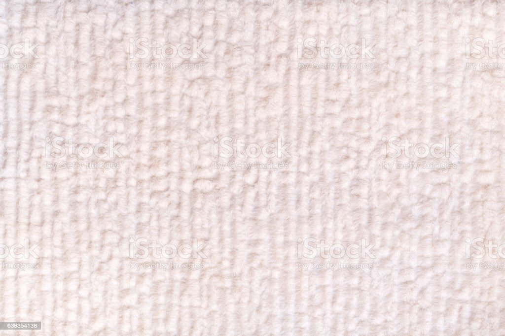 White Fluffy Background Of Soft Fleecy Cloth Texture Of Textile