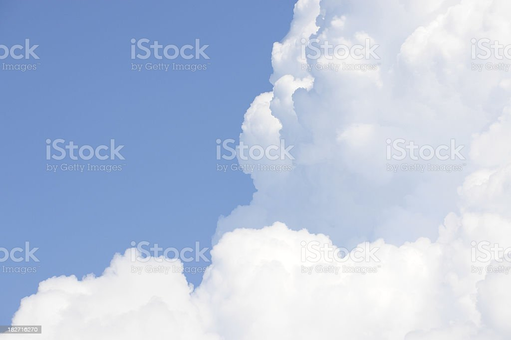 White fluffy clouds, blue sky royalty-free stock photo