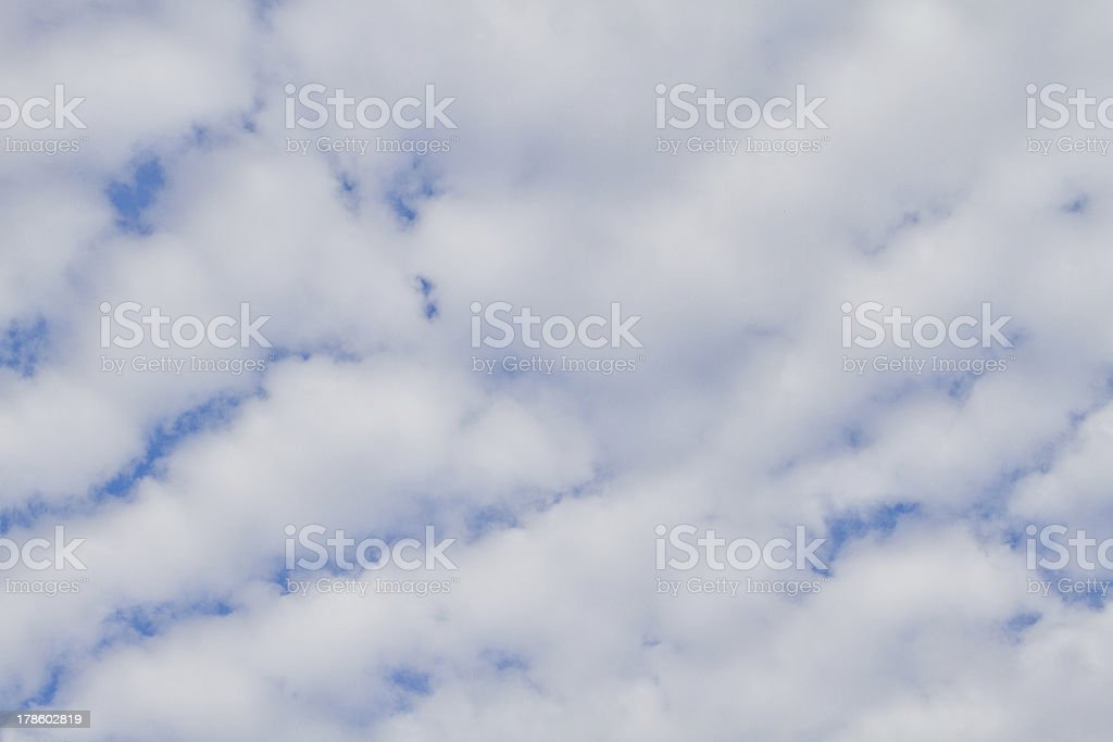 White fluffy clouds in the sky royalty-free stock photo
