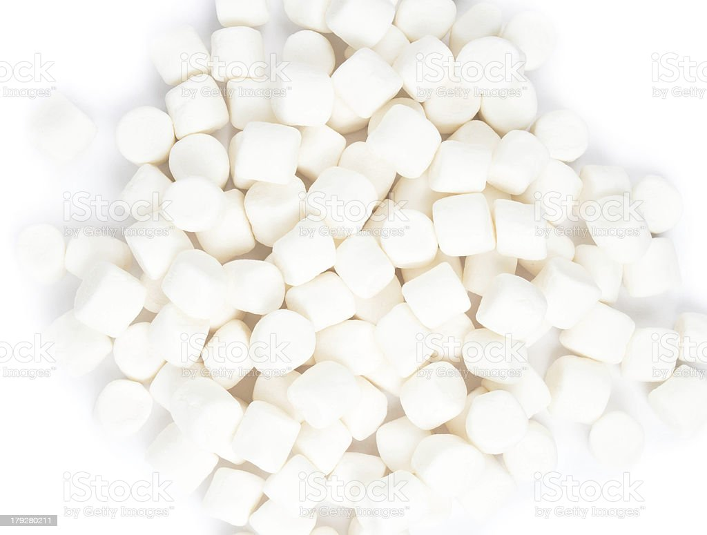 White Fluffy Round Marshmallow royalty-free stock photo