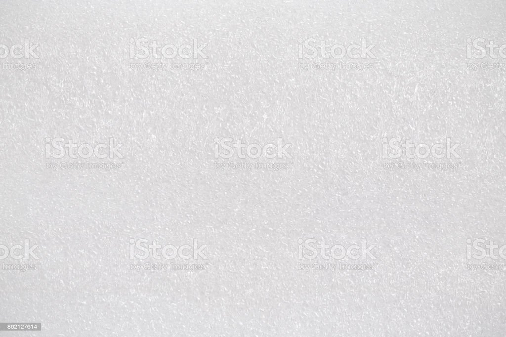 White foam board. Synthetic texture background. Detail of plastic material. stock photo