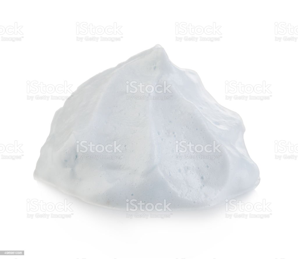White foam cream mousse soap lotion isolated, stock photo