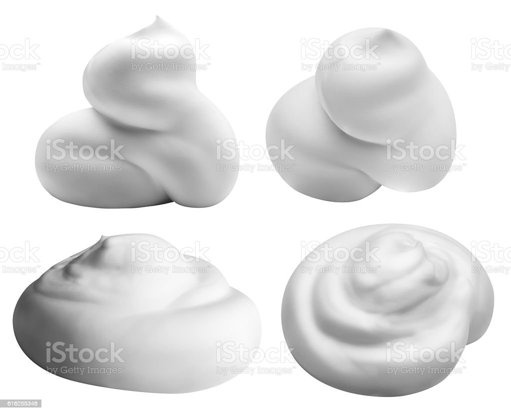 white foam isolated on white background with clipping path stock photo