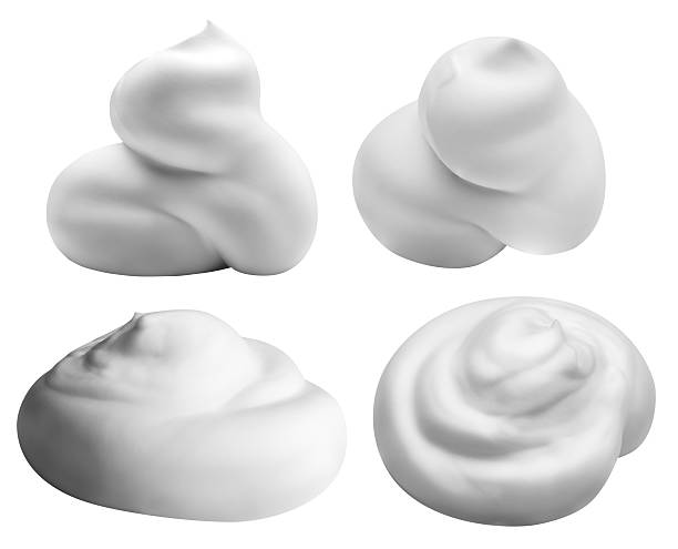 white foam isolated on white background with clipping path - 石鹸 ストックフォトと画像