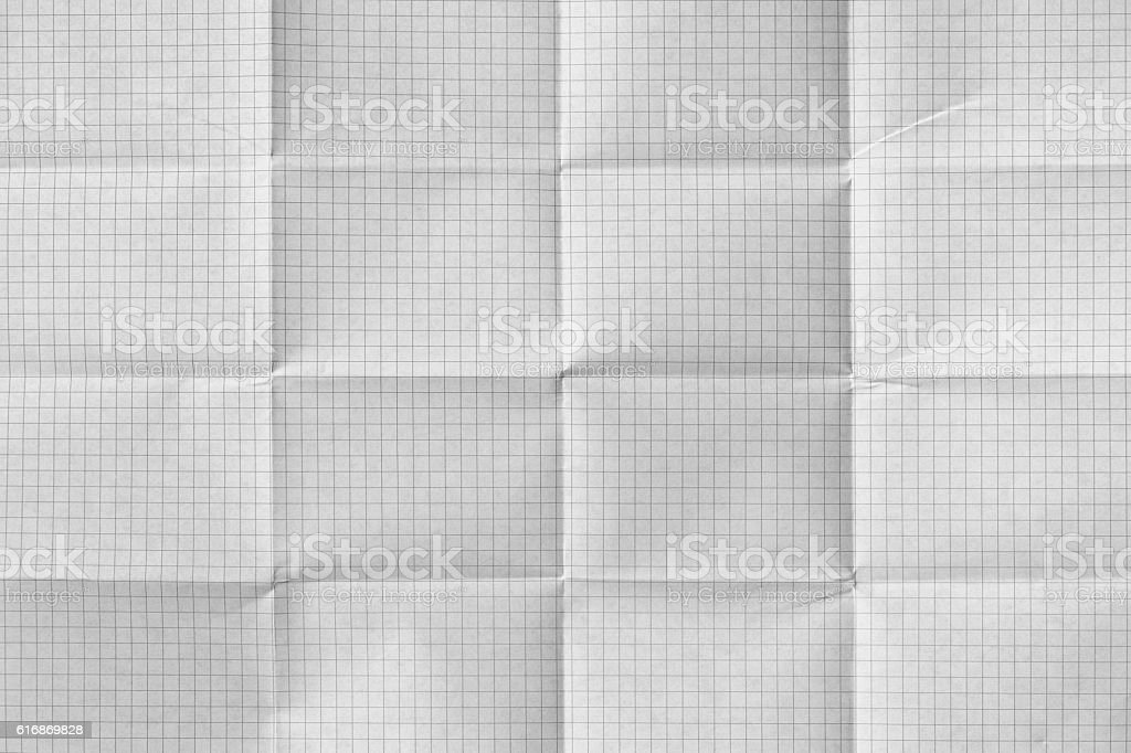 White folded paper background stock photo