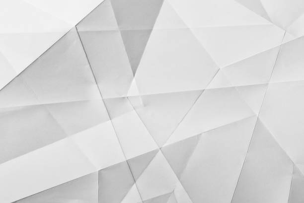 White folded paper stock photo