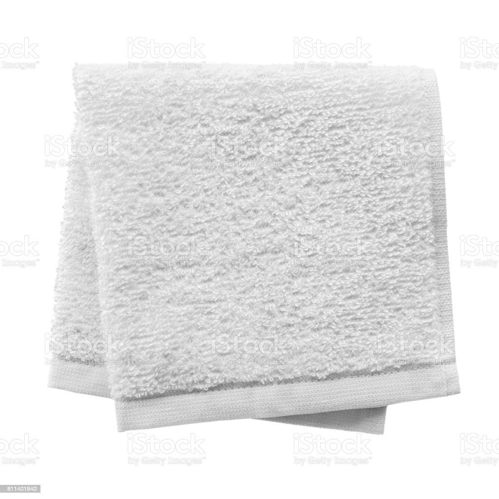 White folded towel - foto stock