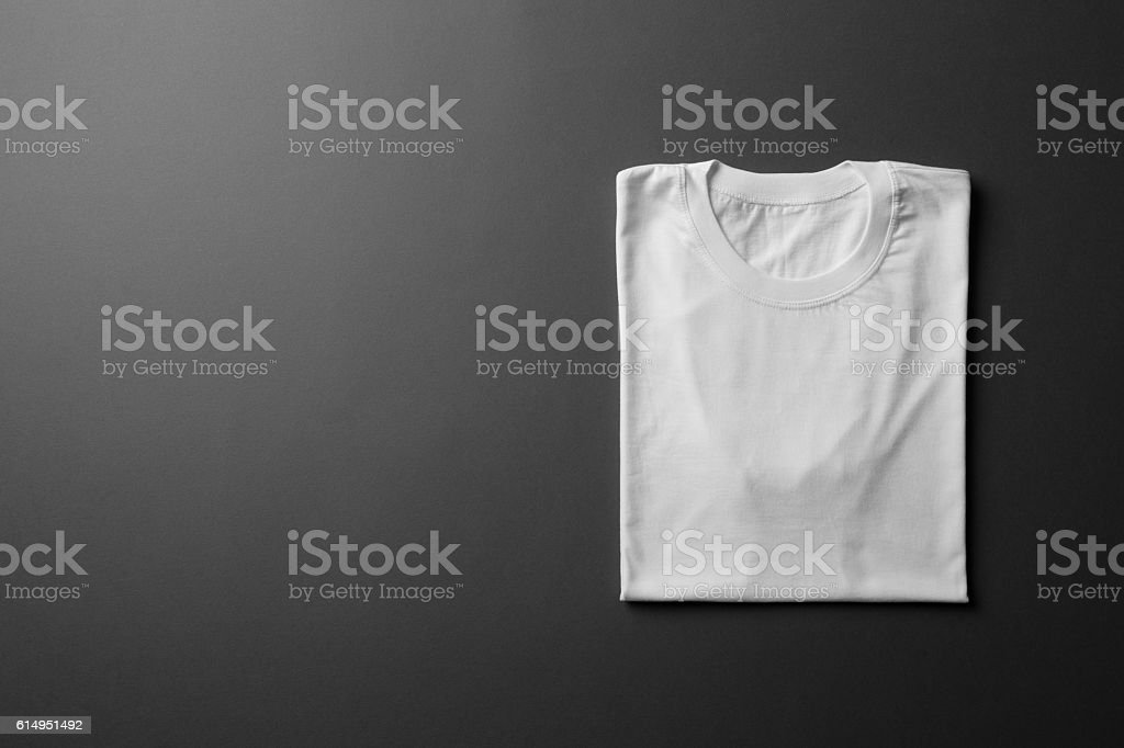 White folded T-Shirt Mock-up - foto de stock