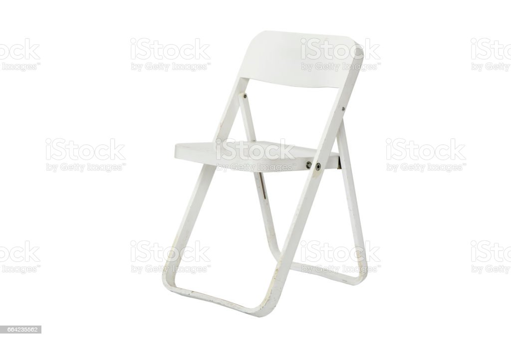 Remarkable White Folding Chairs Stock Photo Download Image Now Istock Ncnpc Chair Design For Home Ncnpcorg