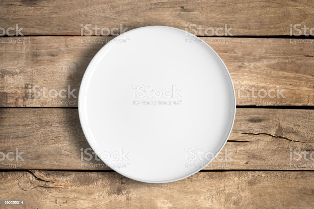White food plate stock photo