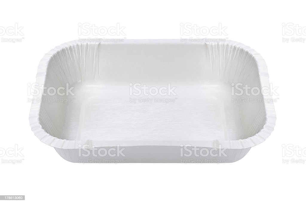 White Food Tray royalty-free stock photo