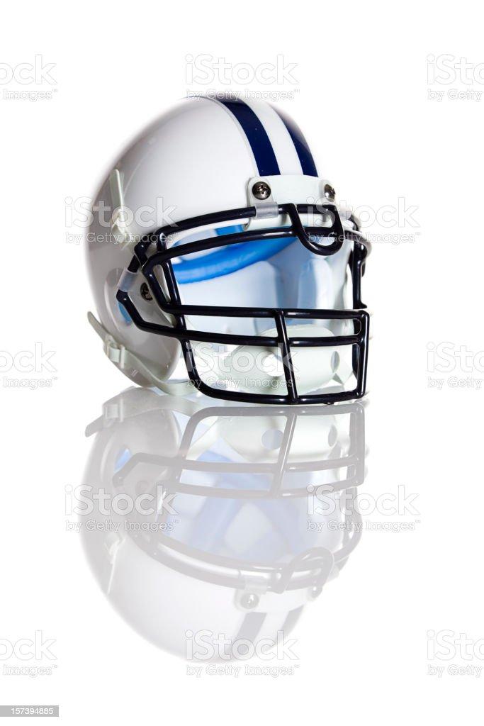 White Football Helmet royalty-free stock photo