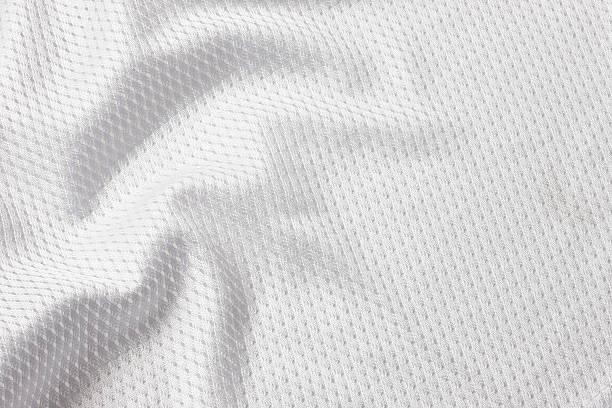 white football jersey - mesh textile stock photos and pictures
