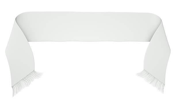 Blanc de football ou soccer écharpe isolé sur fond blanc - Photo
