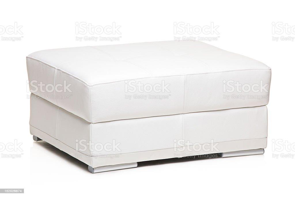 White footstool stock photo