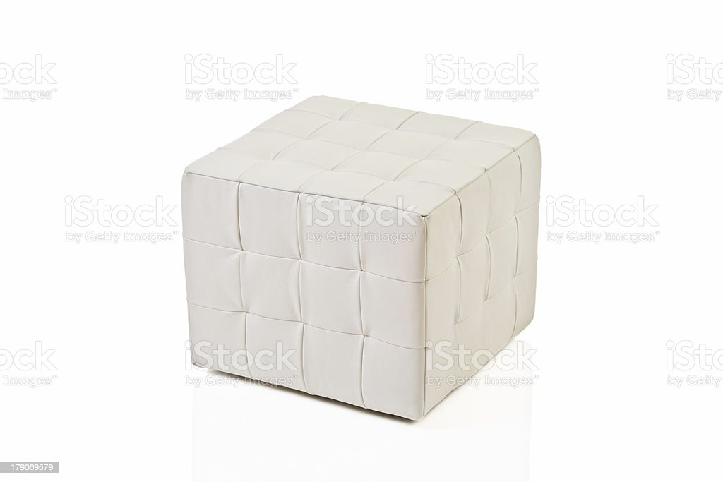 White footstool royalty-free stock photo