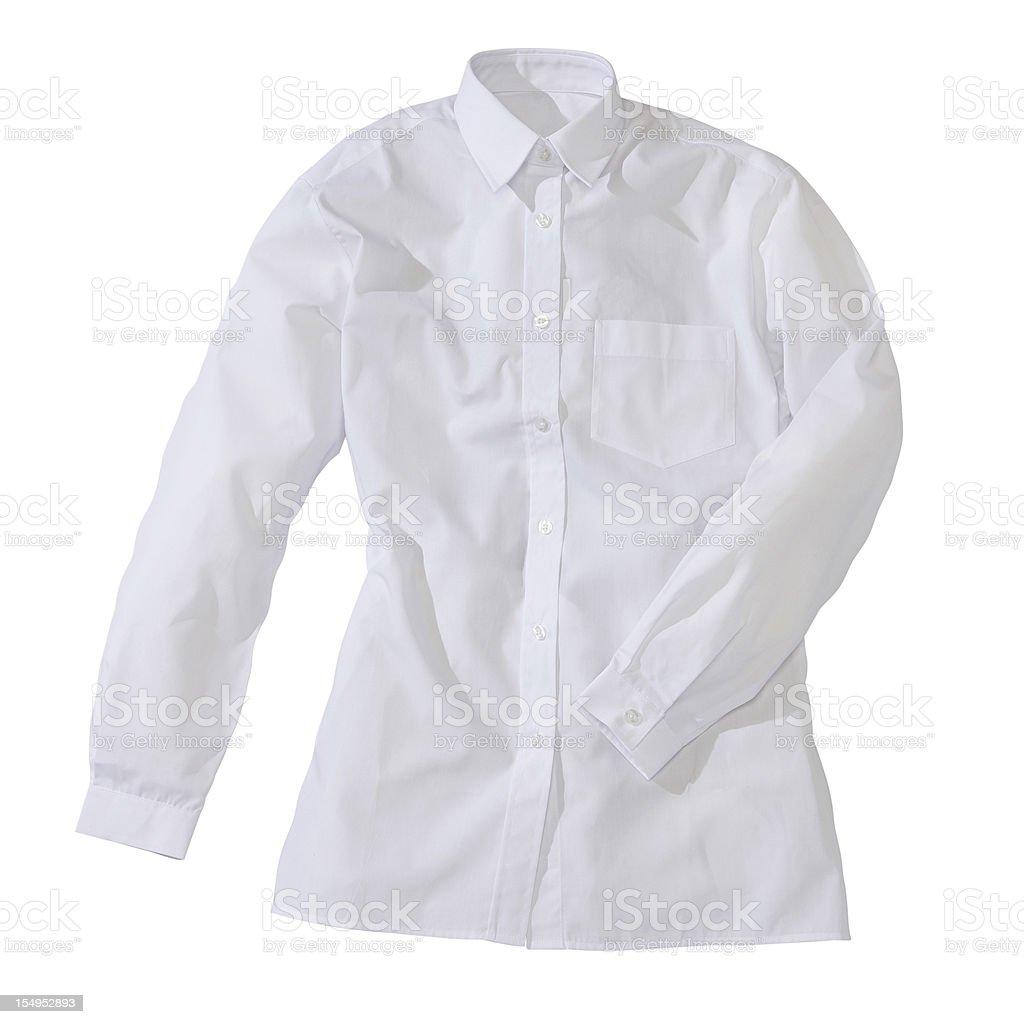 White formal female shirt royalty-free stock photo