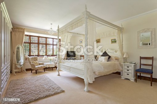 a Large bedroom in a traditional English country house hotel (5 Star). Spacious, bright and with a traditional