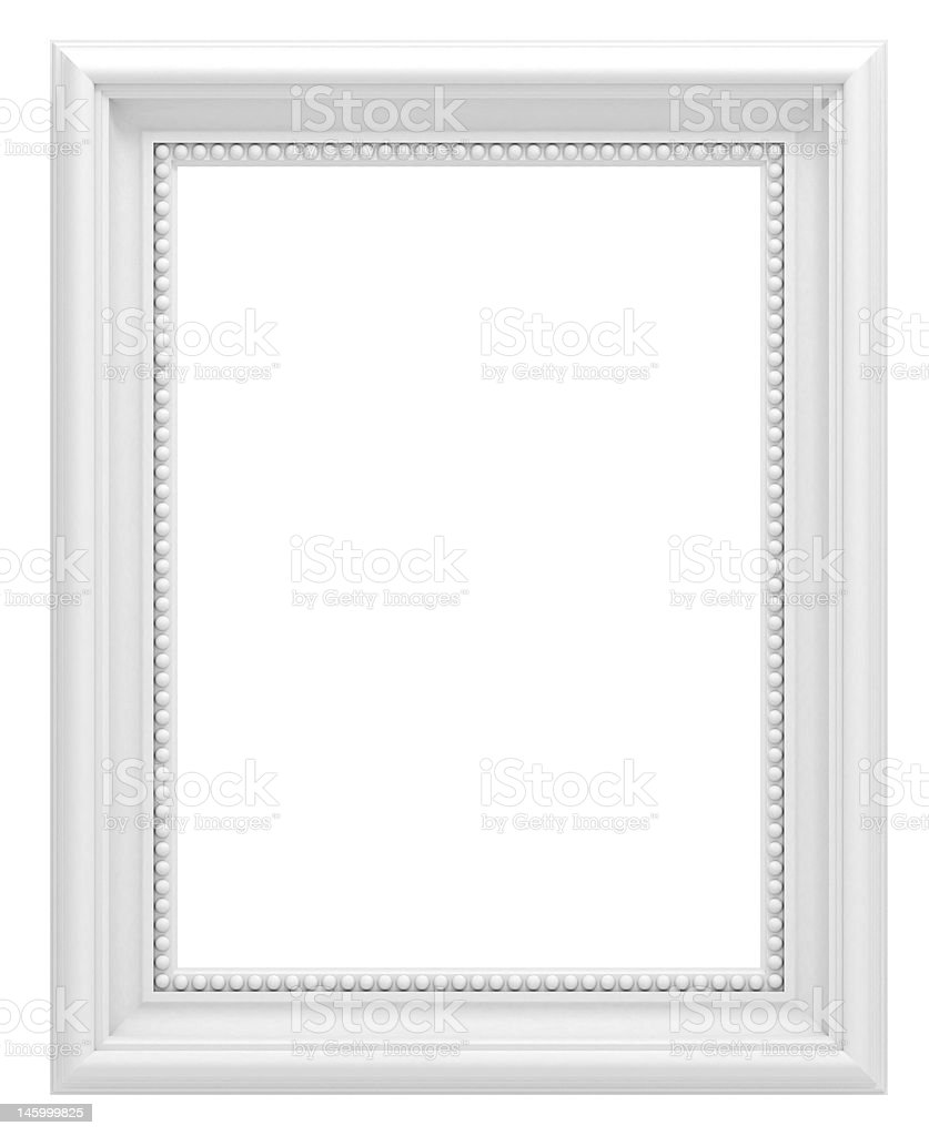 White Frame stock photo