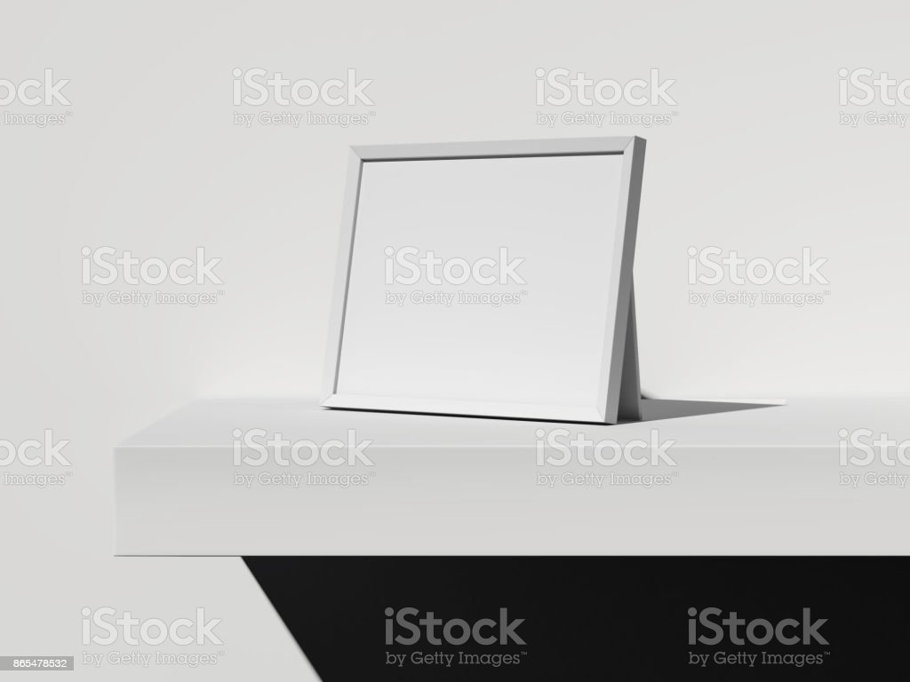 White Frame Without A Picture 3d Rendering Stock Photo & More ...