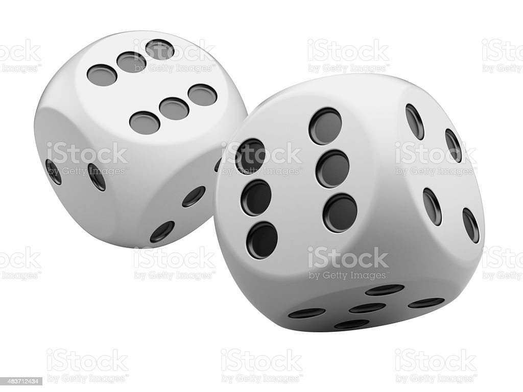white game dices stock photo