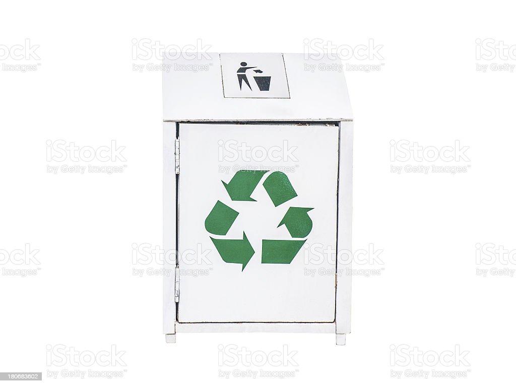 White garbage royalty-free stock photo