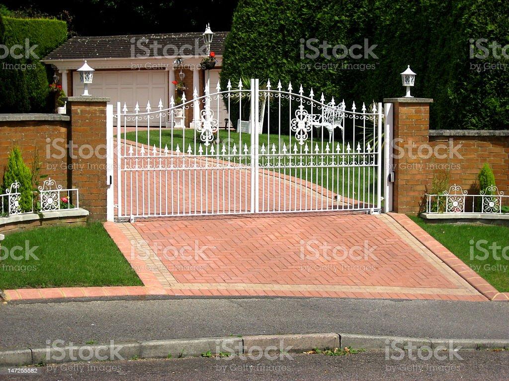 White Gates stock photo