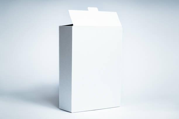 white generic box, studio shot - muesli imagens e fotografias de stock