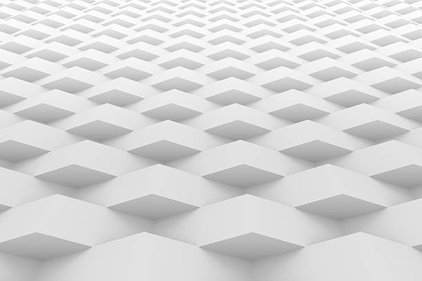 white geometric texture background - geometry stock photos and pictures