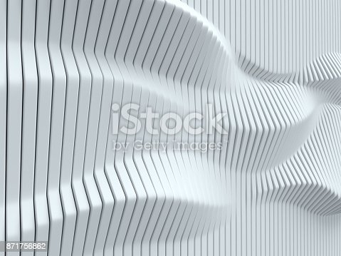 istock White geometrical abstract 3d background isolated illustration 871756862