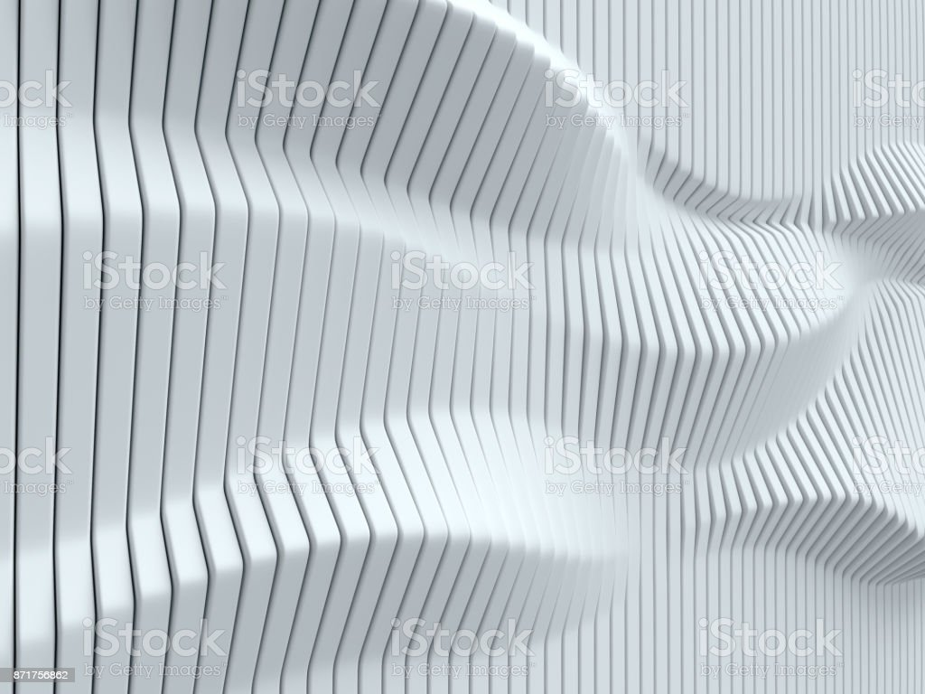 White geometrical abstract 3d background isolated illustration stock photo
