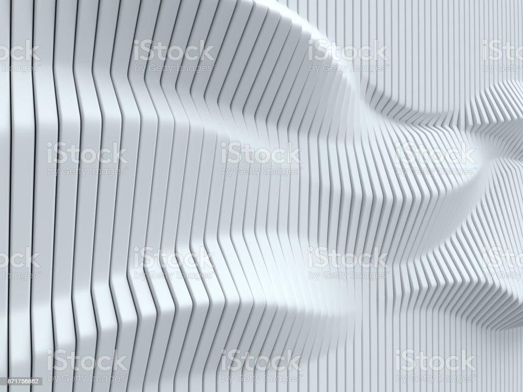 Fondo blanco de abstracto geométrico 3d aislados ilustración - foto de stock