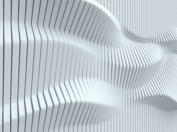 white geometrical abstract 3d background isolated illustration - three dimensional stock photos and pictures