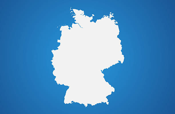 White Germany map on gradient background - Photo