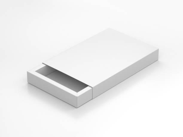 vit present ask mockup på grå bakgrund - remmar godis bildbanksfoton och bilder