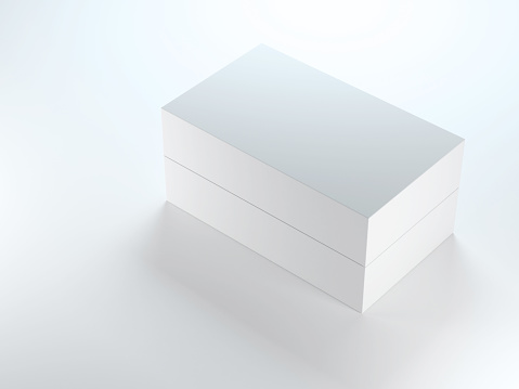 White gift Box. 3d rendering