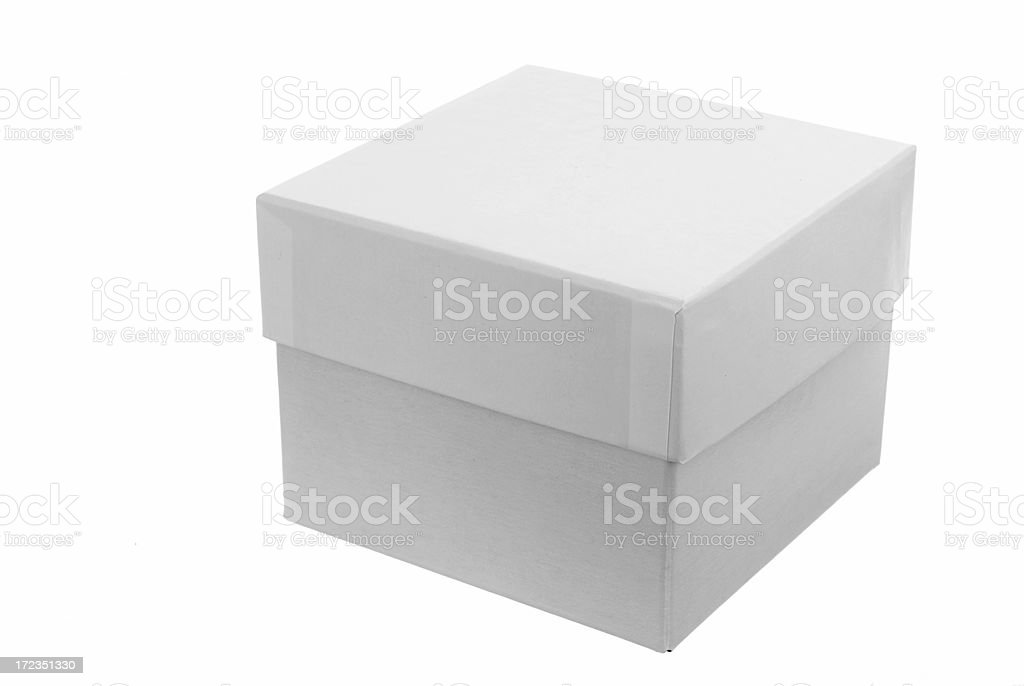 white gift box royalty-free stock photo