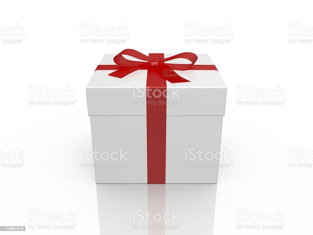 White Gift Box royalty-free stock photo
